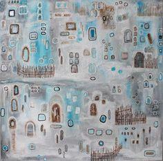 Gemälde Acryl Leinwand Dekoration Original Keilrahmen bunt Unikat
