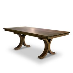 Simplicity and elegance; the Savoy table has both in spades. Handmade, custom to order, by Woodcraft in Toronto, Canada. Bon appétit!