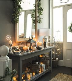 Perfect Modern Country Style: The Best Paint Colours For Small Hallways Click through for details. The post Modern Country Style: The Best Paint Colours For Small Hallways Click through fo… . Vestibule, Country Christmas, Christmas Home, Dark Christmas, Xmas, Christmas Hallway, Best Paint Colors, Paint Colours, Modern Country Style