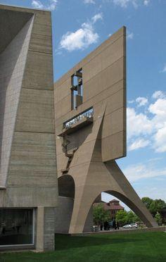 St. John's Abbey Church, Minnesota by Marcel Breuer.