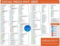 Die interaktive #SocialMedia Landkarte 2013