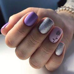 22 Elegant Flower Nail Designs Ideas - Nails C Minimalist Nails, Flower Nail Designs, Nail Art Designs, Nail Manicure, Toe Nails, Nails Polish, Nail Time, Bright Nails, Nagel Gel
