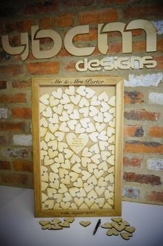 Wooden heart drop box guest book, alternative wedding guest book