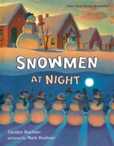 Friday, December 12, 2014. Snowmen play games at night when no one is watching.