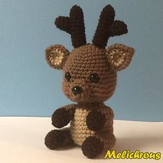 This crochet pattern will instruct you in creating your very own little animal friend, Rudy the Reindeer. Rudy is a lovable companion who will want to be with you everywhere you go. Using the specified materials will result in a doll with a height of about 8 inches (21 cm) including the antlers. Using a different size yarn and hook will result in a different sized doll.  $4.99