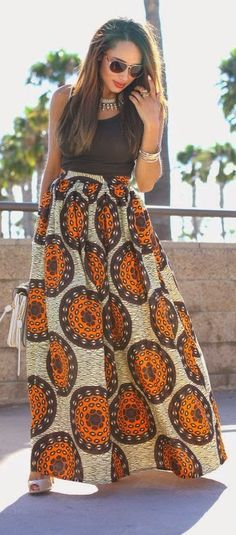 Цвета Африки: Макси юбки. Фото подборка.