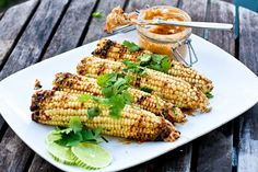 Grilled Corn on the Cob with Chipotle Cinnamon Butter, Fresh Lime and ...