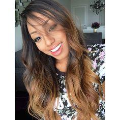 African American Women HairStyles Black Beauty Weave Hair Sytle Ombre Blonde Dip Dye Lovestassia