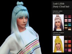 Jenn Honeydew Hum's Retexture female hair LeahLillith *mesh required - Modern The Sims 4 Pc, Sims 4 Cas, Sims Cc, My Sims, Los Sims 4 Mods, Pelo Sims, The Sims 4 Cabelos, Sims 4 Characters, Sims 4 Dresses