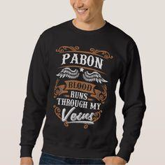 PABON Blood Runs Through My Veius Sweatshirt - Xmas ChristmasEve Christmas Eve Christmas merry xmas family kids gifts holidays Santa