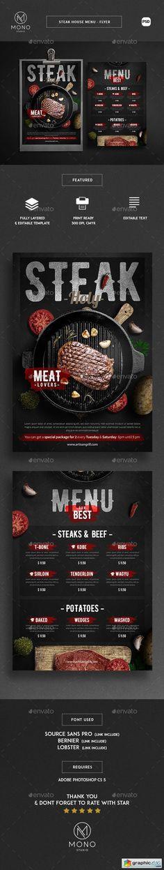 Steak House Menu - Flyer