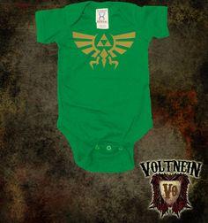 Zelda Triforce Baby Onesie by VoltNein on Etsy, $11.50