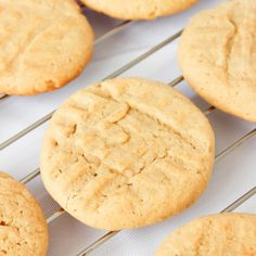 An easy, soft, thick and chewy cookie loaded with peanut buttery goodness!