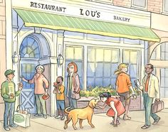 Illustration for Lou's by Laura Terry