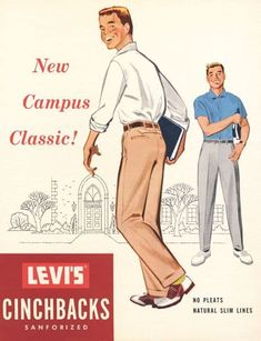 Josh Sims' Icons of Men's Style - Ivy Style Retro Advertising, Vintage Advertisements, Josh Sims, 1950s Men, Vintage Fashion 1950s, Vintage Hats, Victorian Fashion, Ivy League Style, Estilo Preppy