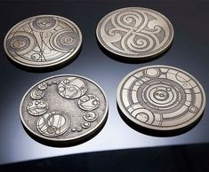 Doctor Who Gallifreyan Coasters. Geek chic.