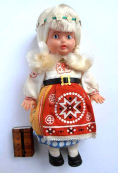 1970s USSR Soviet Estonian National Costume Plastic Doll | eBay