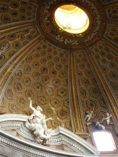 Gianlorenzo Bernini. Interior, S. Andrea al Quirinal. Rome.1658-70 #architecture