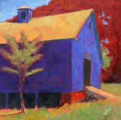 """""""Red Beech"""" 30 x 30 : oil on canvas   New Work for Harrison Gallery (Williamstown, MA) preview - Peter Batchelder"""