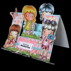 Copic Oz It's All About The Hair Challenge. Card coloured by Mandi-Lee