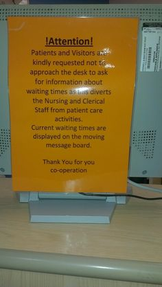 Speak to the sign, coz the face ain't listening. Customer service at its worst.