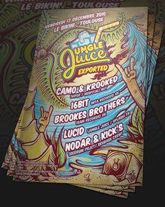 Jungle Juice 2010 - 2012 by Mike Friedrich, via Behance
