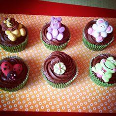 Cupcakes decorados con motivos selváticos!