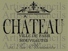 POCHOIR Chateau Ville de Paris 10x12.7