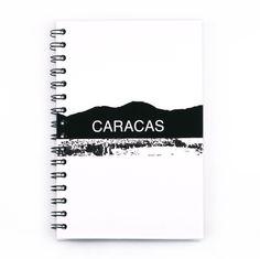 Caracas  Panorámica. Una libreta llena de estilo con la mejor vista de Caracas, Venezuela. Notebook.