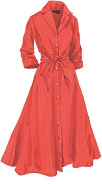 J Peterman coral dress.