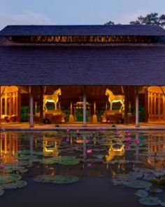 Where else can you find an entrance with a lilypad courtyard? The Datai Langkawi (Malaysia) - Jetsetter Places Ive Been, Places To Go, Resort Spa, Four Seasons, The Good Place, Entrance, Bali, Exterior, Mansions