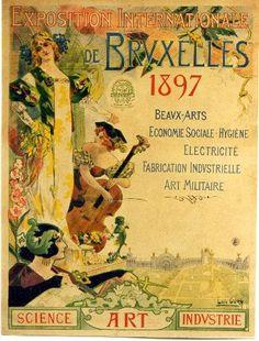 Oury - Expo Internationale de Bruxelles - 1897 vintage poster