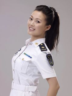 I like her for Minori. And I'd give her a bun instead of a ponytail. Mädchen In Uniform, Beauty Army, Female Soldier, Female Pilot, Warrior Girl, Military Women, Girls Uniforms, Real Women, Japanese Girl