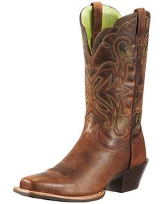 Cowgirl boots are a fashion statement that's here to stay! Whether you ride at the ranch or make your rounds on Rodeo Drive, there is a cowgirl boot that fits your personalityWomen's Legend Boot - Sassy Brown