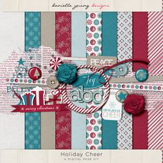 Danielle Young :: Holiday Cheer Page Kit @ OScraps