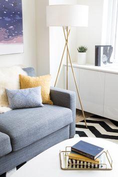 Cozy Living Room Vignette  Floor lamp