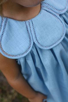 TULIP DRESS in a dusty blue color. Based on a vintage (c. 1920s) style.