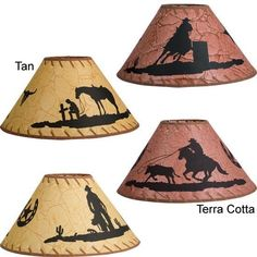 Western Silhouette Lamp Shades