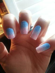 Ombre nails   pastels   gradient   nailpolish