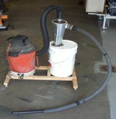 Image result for homemade dust collector with blower motor