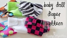 Baby doll diaper pattern that anyone can do.  You can glue it together with fabric glue.