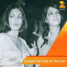 Parveen Babi with Zarine Khan