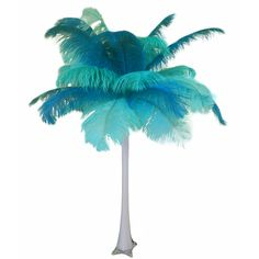 "Wholesale Event Solutions - ""Teal and Mint"" Ostrich Feather Centerpiece, $54.96 (http://www.eventswholesale.com/teal-and-mint-ostrich-feather-centerpiece/)"