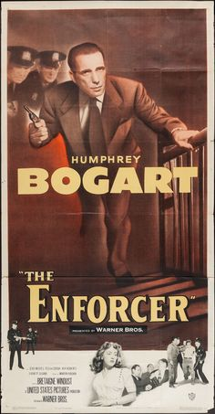 "Movie Posters:Film Noir, The Enforcer (Warner Brothers, 1951). Three Sheet (41"" X 79""). FilmNoir.. ... Image #1"