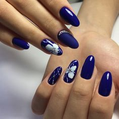 Manicure Nail Designs, Classy Nail Designs, Cute Acrylic Nail Designs, Simple Nail Art Designs, Best Nail Art Designs, Wedding Acrylic Nails, Red Acrylic Nails, Blue Nails, Romantic Nails