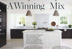 Black and White Kitchen  http://houseandhome.com