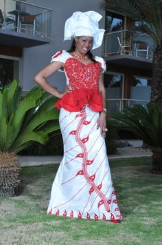 Make+a+statement+with+this+bold+ensemble made+of+white+brocade+and+red+embroidery with+exotic+hand+sewn+beads+on+bust+area.  Great+for+absolutely+any+social+event+where+you+want+to+stand+out.+  Made+with+100%+authentic+cotton+brocade and+personally+hand+dyed.+Machine+stitched embroidery+a...