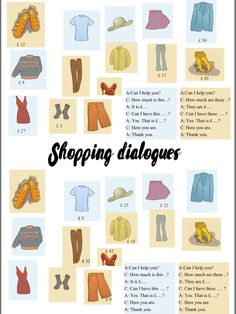 Two speaking activities for elementary students Speaking activity – HAVE GOT Speaking activity – SHOPPING - Shopping Dialogues - Shopping for Clothes - Speaking Activity