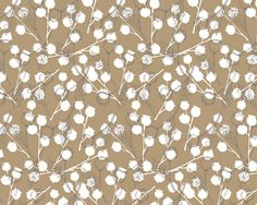 Seed Pods Tan Mural - Erin Ries| Murals Your Way