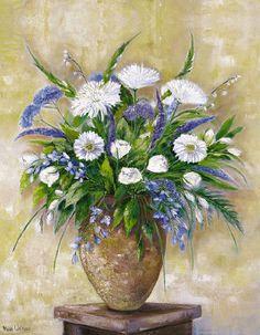 Withaar-A-scentful-bouquet-Blumen-Fertig-Bild-60x80-Wandbild-Blueten-Strauss